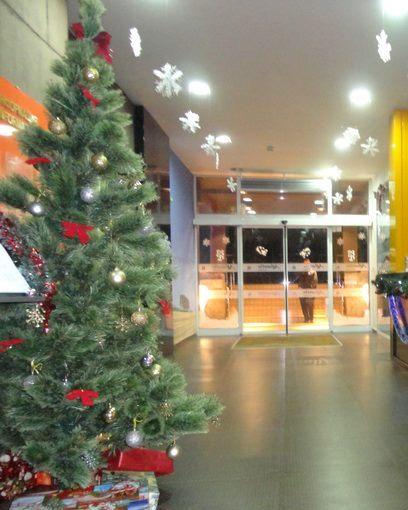 """Новогодишна украса в Сарафово, от """"стената"""" на Димитър Николов"""
